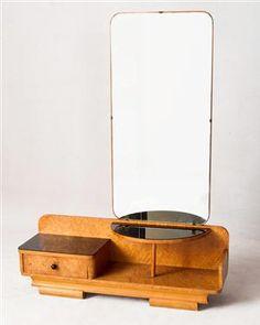 Lot: 2770422 Kleiderschrank und Spiegelkommode, 1930er Jahre (2) Wooden Furniture, Furniture Decor, Furniture Design, Art Nouveau Design, Art Deco, Modern Interior Design, Mid-century Modern, Kitchen Decor, Living Spaces