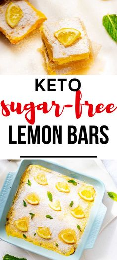 Looking for the best easy low carb dessert? You are going to love these Keto Sugar Free Lemon Bars. Sweetened with Swerve, these delicious bars have a rich buttery macadamia nut crust and a no bake filling. #kickingcarbs #KetoLemonBars #LowCarbLemonBars #sugarfree #glutenfree