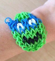 Rainbow Loom * Handmade Teenage Mutant Ninja Turtle LEONARDO Bracelet