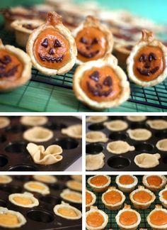 Pumpkin pie bites Halloween