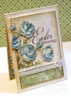3/31/2013; Teneale Williams on her website; MDS creation with step-by-step directions including screen shots for visual aids in the composition of this lovely card; I can see a variety of sentiments for this card