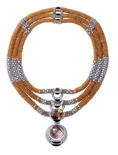 Cartier's riff on African tribal jewelry called L'Odyssee de Cartier Parcours d'un Style 'Solar' high jewelry necklace.