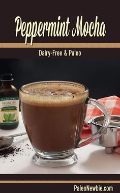 The easy way to make a hot and minty mocha! Start with espresso or strong coffee and add this recipe's simple ingredients. Non-dairy and paleo. Awesome!