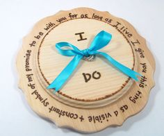 RUSTIC ring bearer pillow by KnottyNotions Rustic Ring Bearers, Ring Bearer Pillows, Rustic Pillows, Cooking Timer, Wedding Rings, Handmade, Don't Care, Etsy, Wedding Ideas
