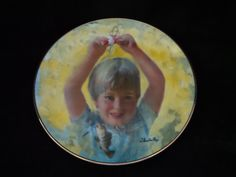 "1982 Viletta Carefree Days ""First Catch"" Collector Plate by Thornton Utz by…"