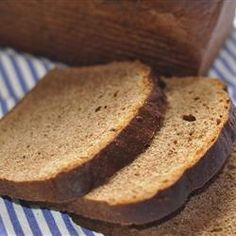 This dense bread is unadulterated by other flours, making it an intensely rye-flavored bread. It & also molasses-sweetened and punctuated with caraway seeds. 100 Percent Rye Bread Recipe, Gluten Free Rye Bread Recipe, German Rye Bread Recipe, Rye Bread Recipes, Bread Machine Recipes, Rye Bread Recipe Without Caraway Seeds, Pita Recipes, Flour Recipes, Savoury Recipes