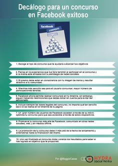 Decálogo para un concurso en FaceBook exitoso #infografia