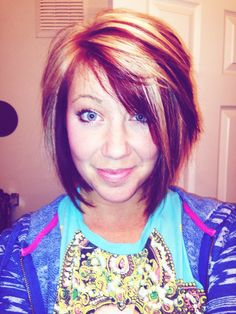 Short cut sassy cut !! Summer style !! Red and blonde !!