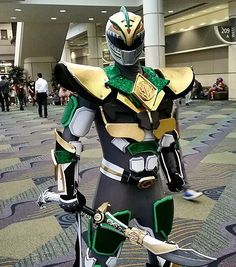 If I did this I'd do it in reverse and have more of the green ranger infused with the white. Power Rangers Cosplay, Power Rangers Movie, Go Go Power Rangers, Ranger Armor, Tommy Oliver, Pawer Rangers, Green Ranger, Mighty Morphin Power Rangers, Pokemon