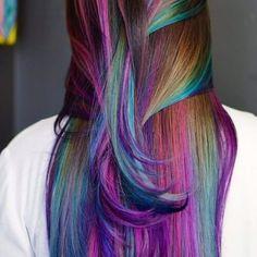 30 Mesmerizing Mermaid Hair Coloration Concepts — Actual Life Fantasy,Hair Mice 30 Mesmerizing Mer Slick Hairstyles, Pretty Hairstyles, Mermaid Hairstyles, Rainbow Hairstyles, Latest Hairstyles, Hairstyle Ideas, Bob Hairstyle, Oil Slick Hair Color, Hair Color 2018