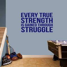 Every True Strength Wall Decals Wall Decor Stickers
