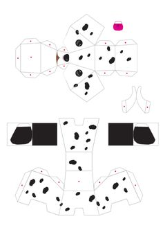 Blog Paper Toy papertoys puppies template 4 preview Puppies papertoys de Julius Perdana
