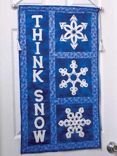 Snow In Love Snowmen Table Runner - via @Craftsy | Quilts ...