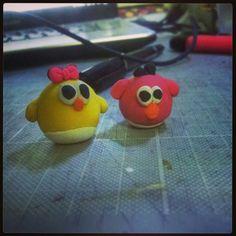 Little chicks #art #arts #craft #crafts #model #models #modelling #sculpture #sculptures #sculpting #diy #clay #polymer