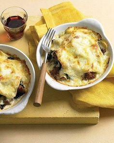 Individual Swiss Chard and Italian Sausage Lasagna Recipe