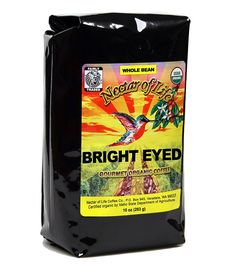 Bright Eyed Medium Dark Roast Whole Bean Coffee from Nectar of Life - Full Body. Thick and Rich. Central and South American Coffee. Best Organic Coffee USDA Organic Coffee Fair Trade Certified 10oz Bag *** See this great product. (This is an affiliate link and I receive a commission for the sales)
