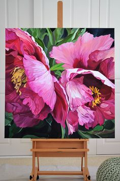 Illawarra Flame large format painting by Sydney artist Jenny Fusca Abstract Flowers, Watercolor Flowers, Watercolor Paintings, Floral Paintings, Oil Paintings, Acrylic Art Paintings, Acrylic Painting Inspiration, Acrylic Painting Flowers, Paint Flowers