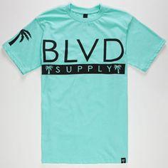 BLVD SUPPLY Frontside Mens T-Shirt      #blvd #supply #mint #green