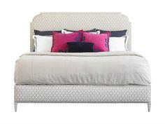 Stanley Furniture Charleston Regency Gray Linen Peninsula Queen Upholstered Bed
