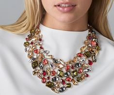 LOVE. Mosaic Neckpiece, Gold Plating from #Swarovski