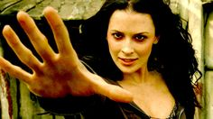 Kahlan Amnell in the throes of the Khandar (Blood Rage). -better known as Bridget Regan looking incredibly hot!