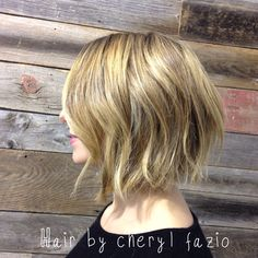 This Bob haircut is Lauren Conrad inspired , a bit of loose texture creates this beachy feel