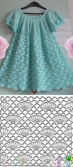Crochet Baby Dress Pattern, Crochet Quilt, Crochet Blouse, Crochet Stitches, Knit Crochet, Crochet Toddler, Baby Girl Crochet, Crochet Baby Clothes, Crochet For Kids