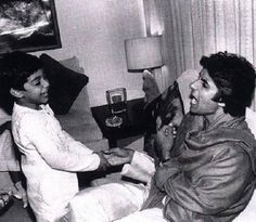Ab Tak Bachchan | The actor playing with son Abhishek. | Celebrity Photos