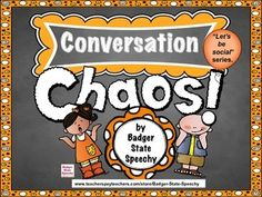"""Do you have students that monopolize conversations by always talking about their own interests and never giving their peers a chance to talk?  Are their conversations more like monologues than dialogues?  Then, try this packet of activities from  my """"Let's be social"""" series designed to help clients or students improve their self-awareness of  their  own  conversational skills, build their conversational skills for low and high interest topics, improve conversational reciprocity, reduce…"""