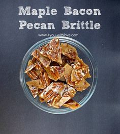 Make some Maple Bacon Pecan Brittle and everyone will be begging for you to make some more! This sweet/salty blend is DELISH!