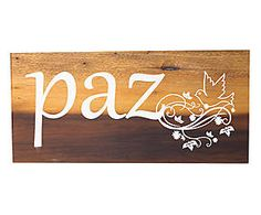 PLACA DECORATIVA PAZ UNION - 25,5X12CM