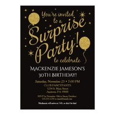 16 best 21st birthday party invitations images on pinterest 21st 21st birthday invitations surprise party invitation gold balloon birthday filmwisefo