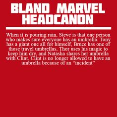 Bland Marvel Headcanons - Clint seems to get into a lot of incidents