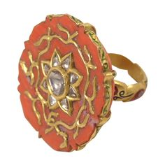Coral Sun Ring | From a unique collection of vintage more rings at http://www.1stdibs.com/jewelry/rings/more-rings/