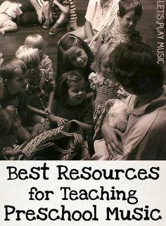 Best Books and Resources for Teaching Preschool Music - Let's Play Music Preschool Music Activities, Kindergarten Music, Preschool Lessons, Piano Teaching, Teaching Kids, Learning Piano, Music For Toddlers, Kids Music, Toddler Music