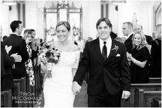 Bride and Groom at Ceremony - Berkshire County Fall Wedding - Tricia McCormack Photography