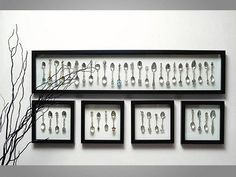 Great idea to showcase a collection! Collector Spoon Display by Framehouse…