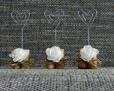 Place Card Holders Wine Tasting Party Decor Winery by RendijaShop Wine Tasting Party, Wine Parties, Wine Cork Wedding, Rustic Wedding, Homemade Wedding Invitations, Wine Cork Crafts, Seashell Art, Handmade Wedding, Burlap Wreath