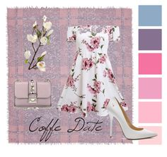"""""""coffe pink ☕🎀"""" by cinthia-andrea on Polyvore featuring Faliero Sarti, Jimmy Choo, Valentino and CoffeeDate"""