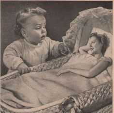 Vintage Johnson's Baby Oil Ad. Couple with manbabies.com as good examples of allometric changes in ontogeny!