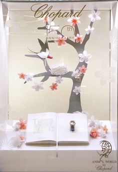 Chopard at Harrods Window Display Featuring Origami Birds by Elemental Design.