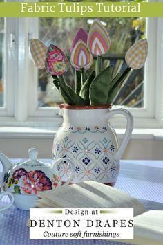 Fabric Tulips Tutorial Denton Drapes #DDCraft #craft #tutorial #make #sew…