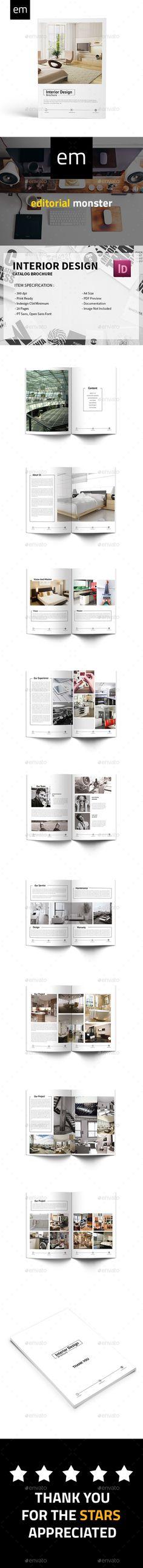Modern Indesign Catalogue 02 UX\/UI Designer, Texts and Modern - interior design brochure template