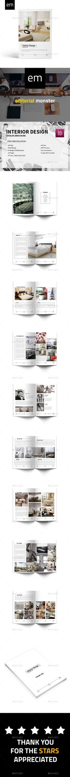 Interior Design Brochure Template InDesign INDD. Download here: http://graphicriver.net/item/interior-design-brochure/16150075?ref=ksioks