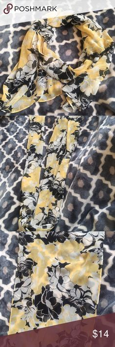 ‼️SALE‼️Discounted Item‼️Closet Clear Out‼️ Yellow and Black elegant scarf great for wrapping around the neck or head. Very versatile and long. A great scarf for driving with the top down, it will definitely blow in the wind while around your neck for a movie star look 😊 Other