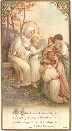 Antique French Holy Prayer Card Mary & Child by VintagePaperAttic, $5.99