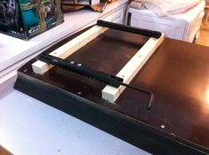 Mounting the seat base on battens. After trying several different heights, settled on 40mm.