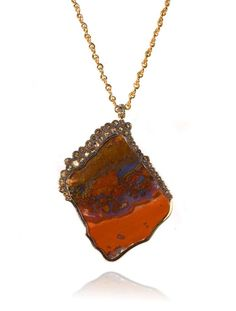 Kimberly McDonald One of a Kind Jasper Pendant with Brown  Diamonds set in 18K Rose Gold on a handmade rose gold chain, $36,025 at Forty  Five Ten in River Oaks District, 4444 Westheimer  Photo: Forty Five Ten