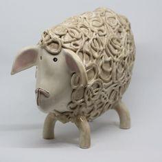 Mr sheep  #handmadegifts #handmade #ceramics #pottery #ceramic #etsy #etsyshop #etsyseller #oneofakind #art #love #artistoninstagram #decoration #artwork #sculpture #pictureoftheday #artist #original #farmlife #nature #animals #unique #weddinggift #sheep #gift #christmas #clay #porcelain #design #pin