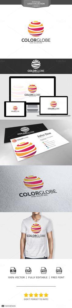 Color Globe Logo by Seceme Shop on Creative Market